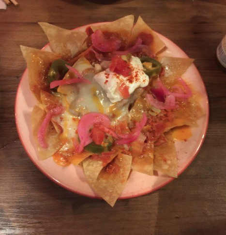 Vegetarian nachos at Saboten Mexican Restaurant, Osaka