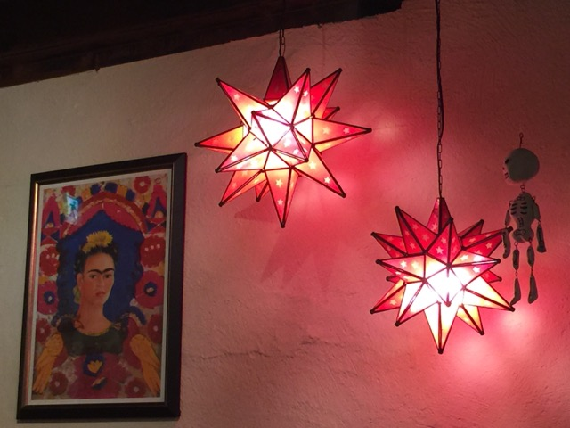 Love the Mexican decor at Saboten! Viva Frida!