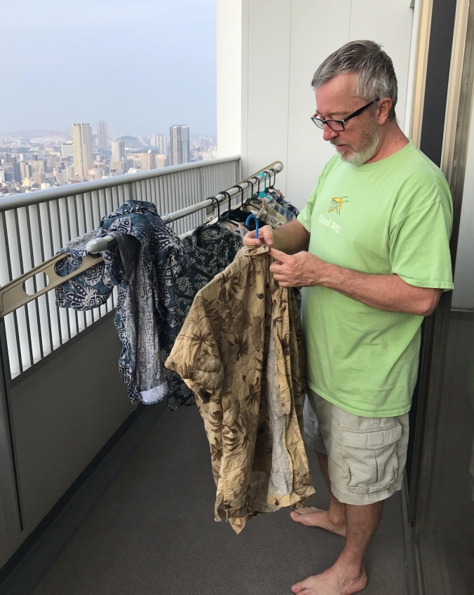 We may live on the 35th floor but we are just like everybody else. We bought a clothes line and dry outside to reduce our carbon footprint.