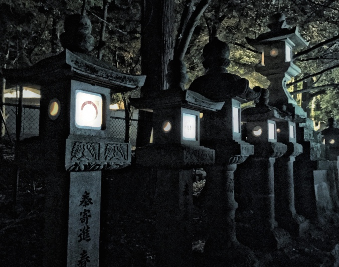 Feels like Halloween night walking among the stone lantern-lined walkways of Nara Park leading up to the Kasuga Taisha Shinto Shrine during To-Kae as part of Obon. Photo by Sydney Solis