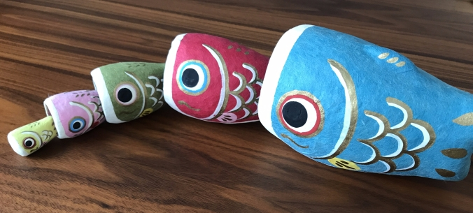 A fish matryoshka made of washi paper I picked up at the gift shop at the Japan Folk Art Museum in Osaka.