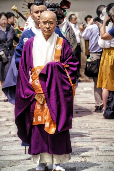 Procession of Shoryoe at Shitennoji Buddhist Temple, Osaka, Japan