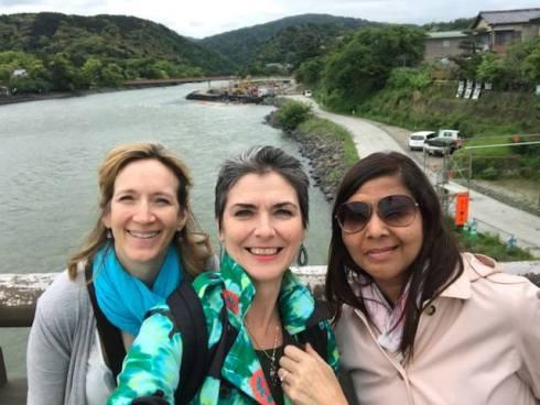 Crossing the Uji River on the Uji Bridge. Uji, Kyoto, Japan. Photo by Sydney Solis.