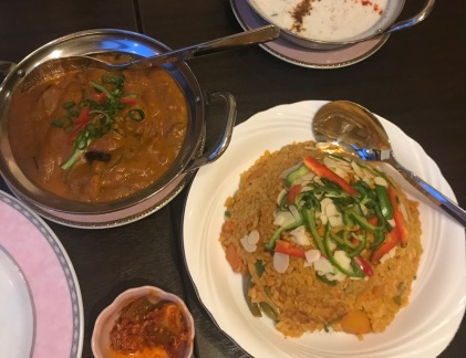 Eating delicious, but too spicy Indian food stressed my colon, my chiropractor said! WOW!