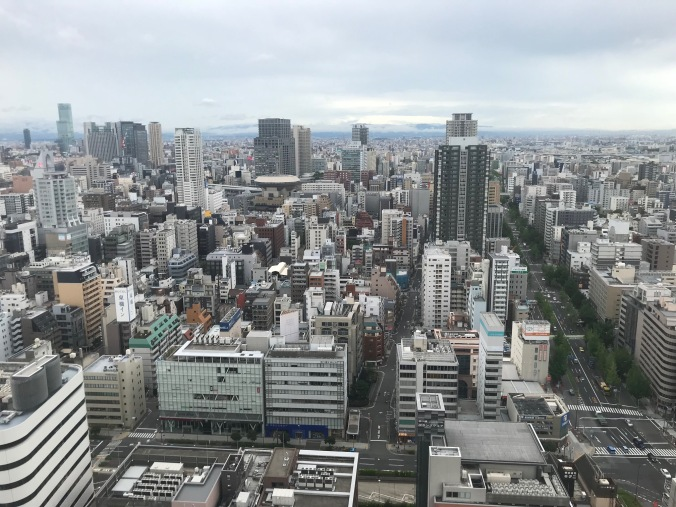 Osaka looking south from our 35th floor Shinmachi apartment 10 minutes after the Osaka Earthquake on July 18, 2018 at 7:58 a.m.