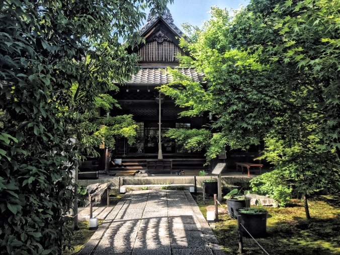 The entrance to Shorin-ji Zen temple, Kyoto, Japan, where I had two Zazen and a yoga and sutra copying experience. Photo by Sydney Solis