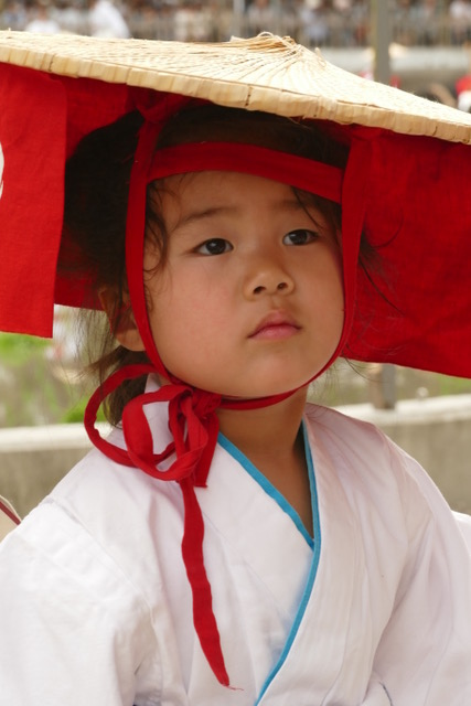 Children are a big part of the Otaue Rice Planting Ceremony at Sumiyoshi Taisha Shinto Shine. Photo by Paloma Solis.