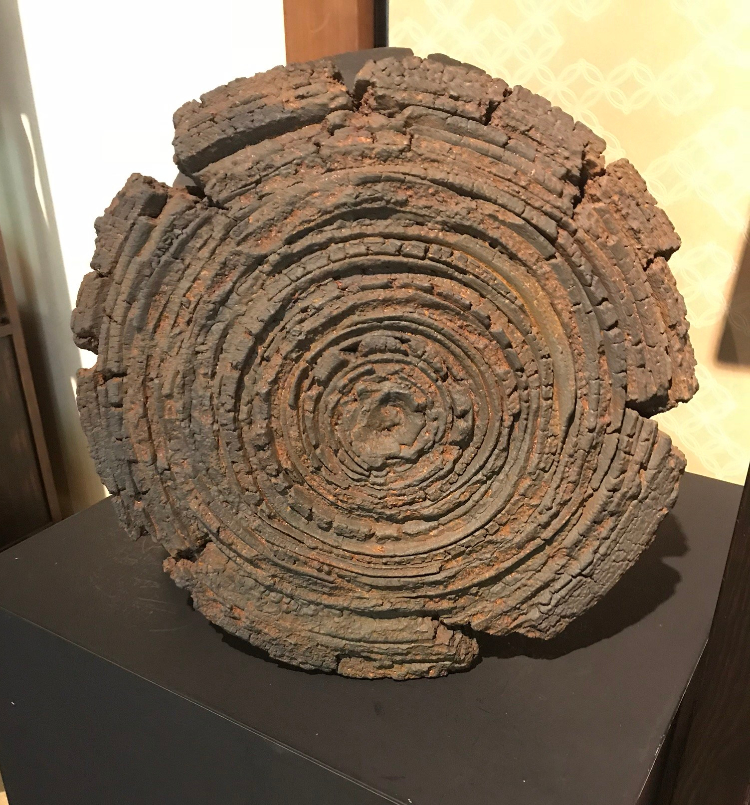 An important work by Akiyama Yo, Sharin–Wheel-T-175–Akiyama. Akiyama (b.1953) is widely considered to be one of the greatest conceptual ceramic artists living today,