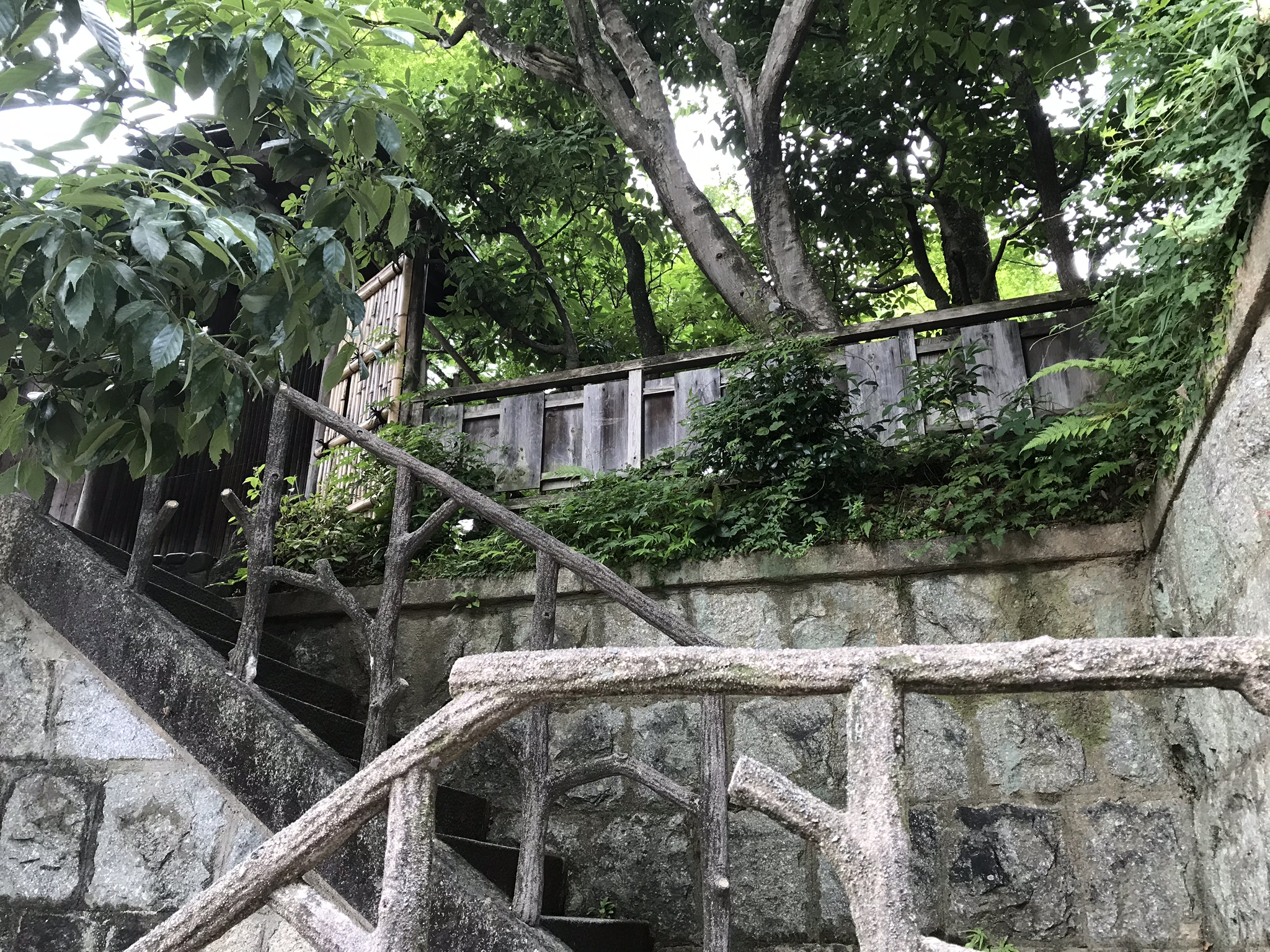 Steps up to the gallery, located near Kyoto's famed Ginkaku-ji Temple, or Silver Pavillion.