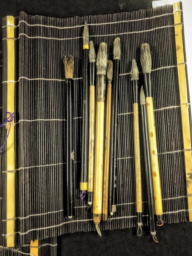 Noriko's fude, brushes.
