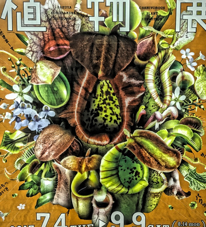Advertisement for carniverous plant exhibition at Sakuya Konohana Kan Botanical Garden in Osaka Subway station. Photo by Sydney Solis