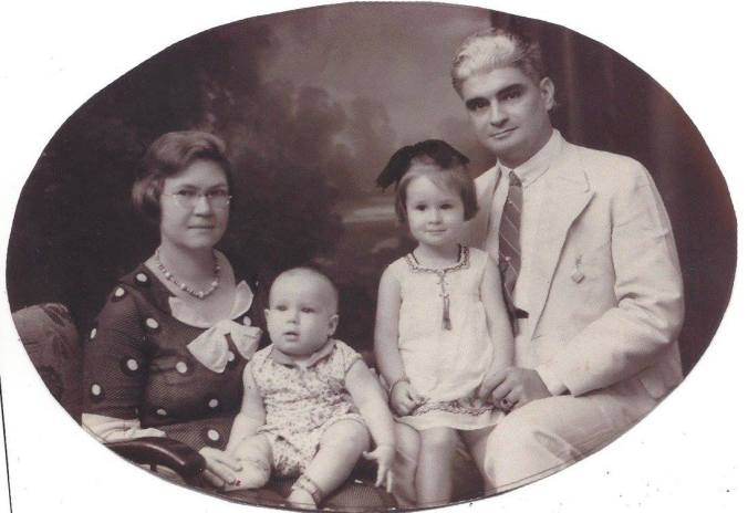 Straub Family Java, Dutch East Indies 1933. My grandfather, grandmother, aunt and father as a baby.