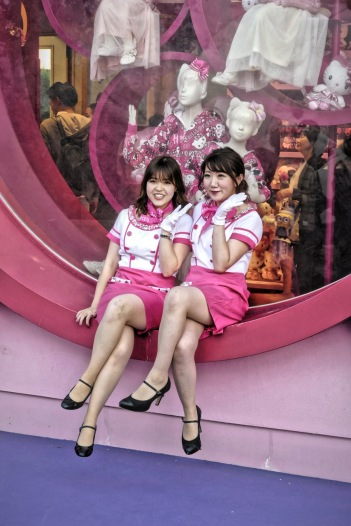 Cute ladies dress up in pairs at Universal Studios Japan! Photo by Sydney Solis