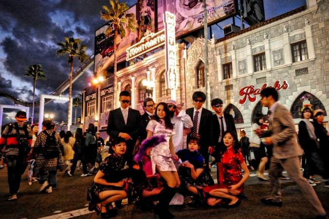 A great night out on the Universal Studios Japan town! Everybody dressing up and having good, clean fun! Photo by Sydney Solis