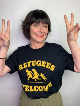 Sydney Solis Refugees Welcome.