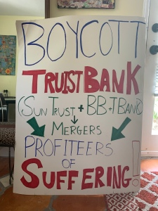 boycott Truist Bank Suntrust bank