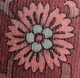 Sakura, cherry blossom,  detail on pillow.