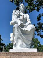 Mother and Child sculpture at Nagasaki Peace Park.