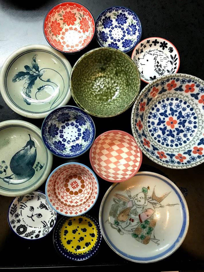 TIny plates from Japan.