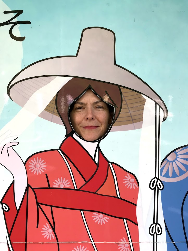 Sydney Solis ready to walk the pilgrimage on the Kumano Kodo.