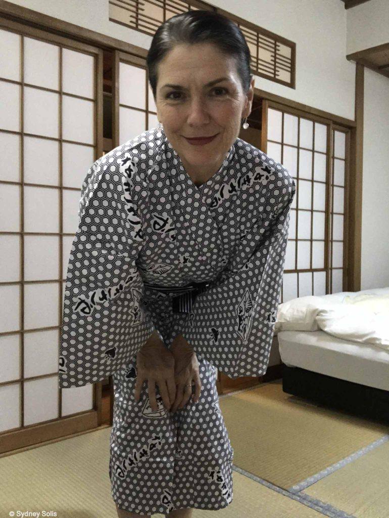 Sydney Solis at Nigisaya Hotel and onsen, Wakayama, Japan.