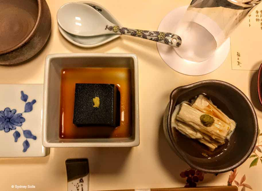 Kaiseki at Umehana Restaurant, Osaka, Japan.