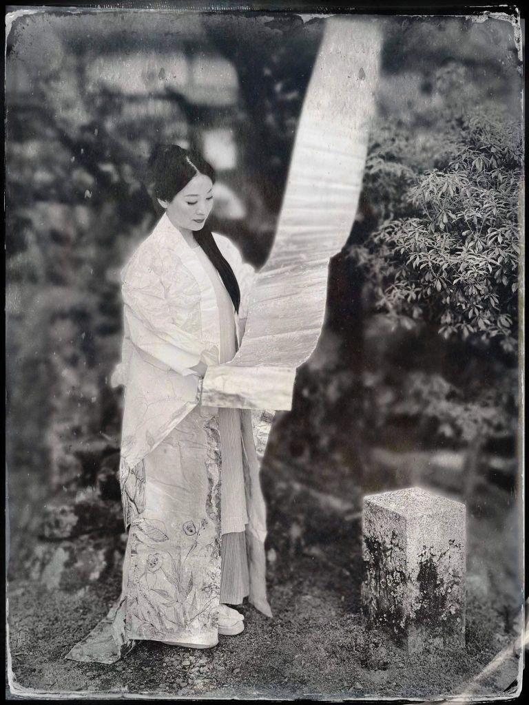 Maria Papatzelou's Washi Kimono Photographed by Everett Kennedy Brown.