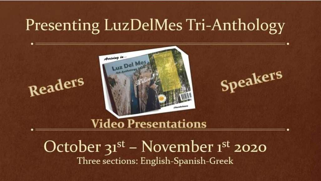 LuzDelMes Tri-Anthology Virtual Conference Oct. 31- Nov. 1.