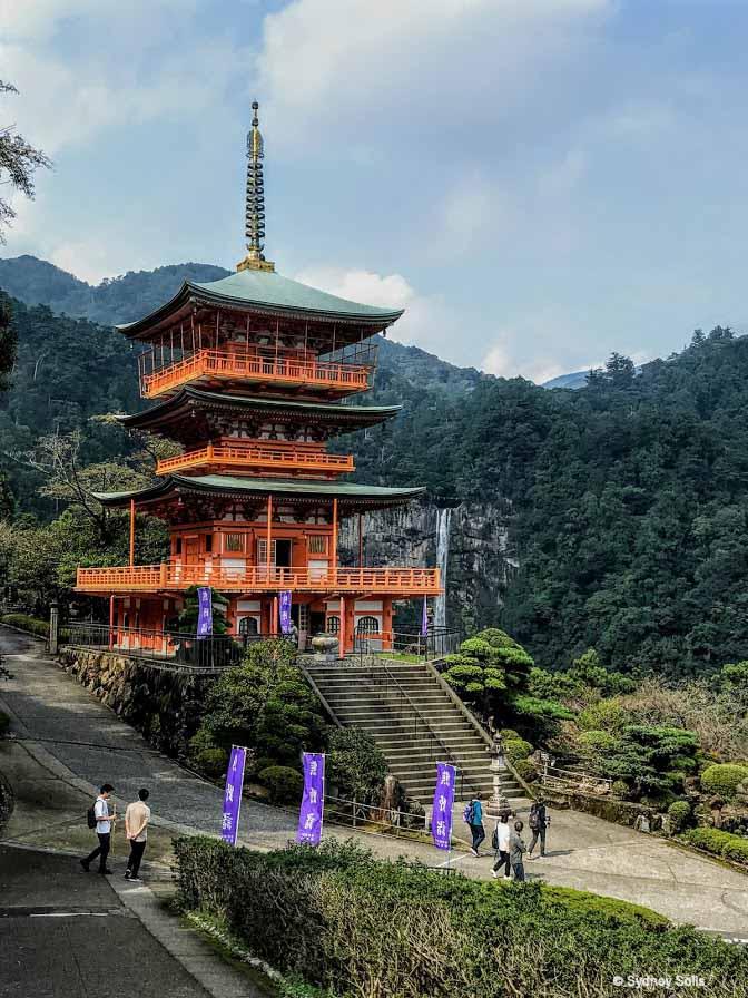 Kumano Kodo Nachi Taisha Three-Storied Pagoda Sanjūdō