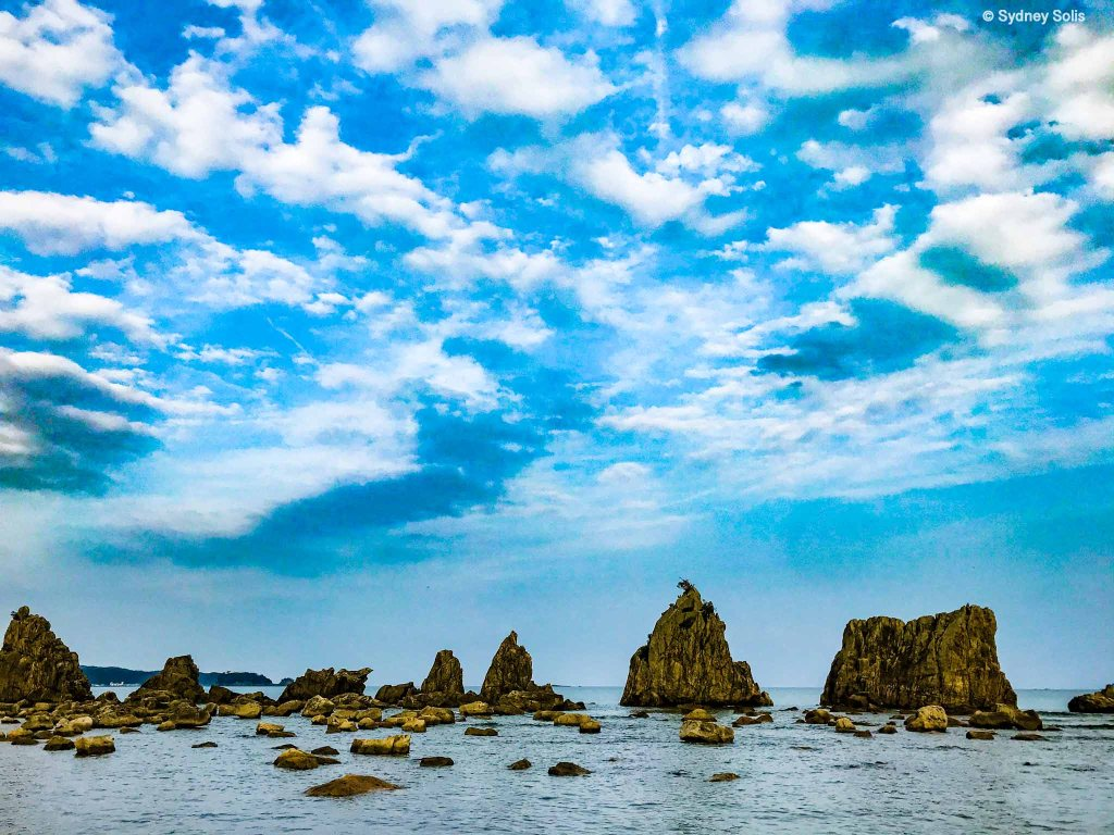 Hashiguiiwa Rocks in Wakayama Prefecture, Japan.