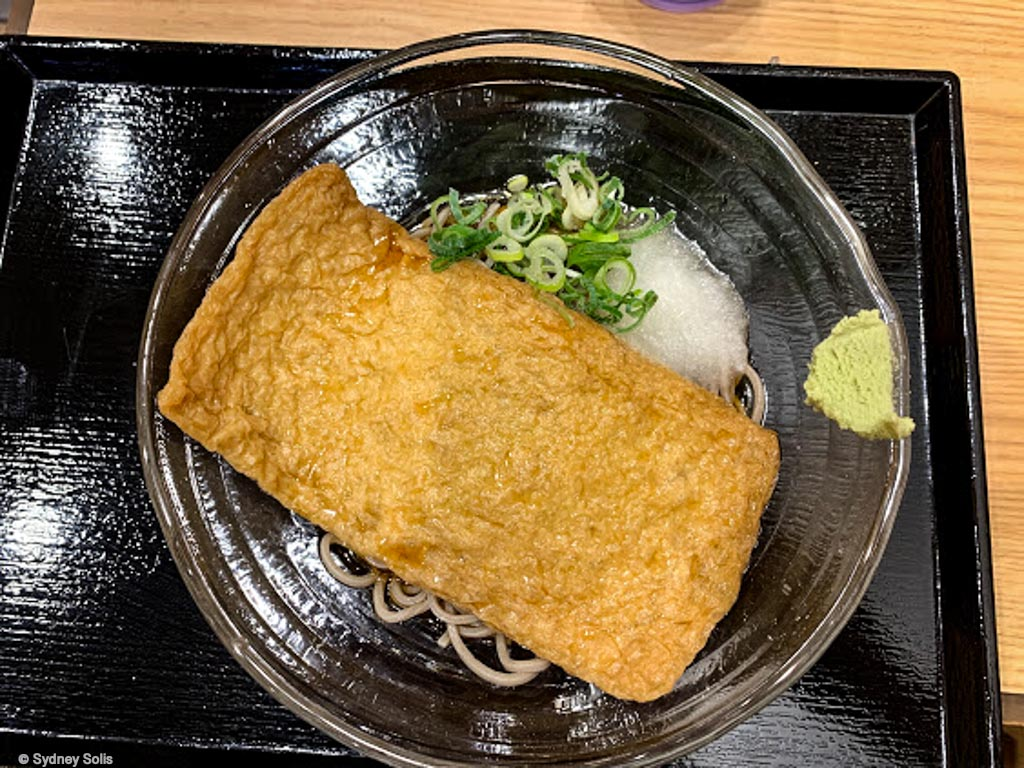 Oishī This Aburaage is with ramen, but comes with the negi, wasabi as well as the grated yam. Oishī! おいしい